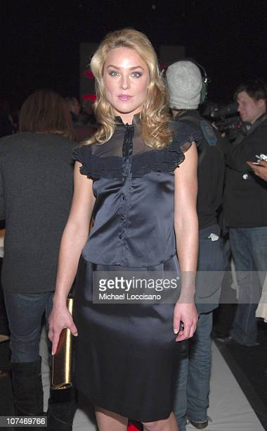 Elisabeth Rohm during Olympus Fashion Week Fall 2006 Diane von Furstenberg Front Row and Backstage at Bryant Park in New York City New York United...