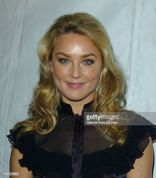 Elisabeth Rohm during Olympus Fashion Week Fall 2006 Seen Around Tent Day 3 at Bryant Park in New York City New York United States