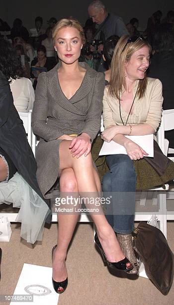 Elisabeth Rohm during Olympus Fashion Week Fall 2006 Y Kei Front Row and Backstage at Bryant Park in New York City New York United States