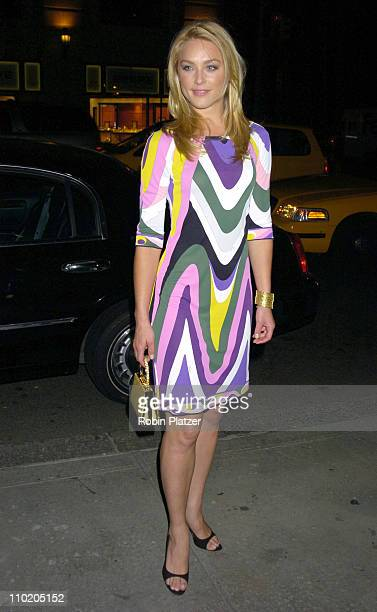 Elisabeth Rohm during Pucci Store Grand Opening in New York City Arrivals at Pucci Store on Fifth in New York New York United States