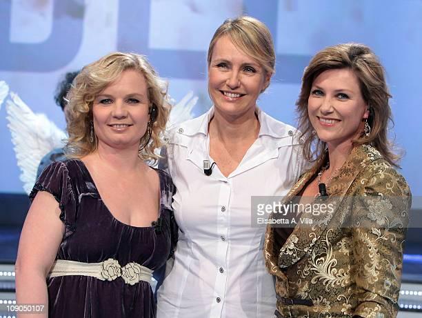 Elisabeth Samnoy TV presenter Licia Colo and Princess Martha Louise Of Norway attend Alle Falde Del Kilimangiaro Italian TV Show at the RAI Studios...