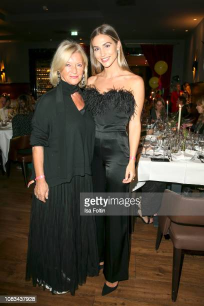 Elisabeth Schwaiger and AnnKathrin Goetze during the Grazia Fashion Dinner 2019 at Titanic Hotel on January 16 2019 in Berlin Germany