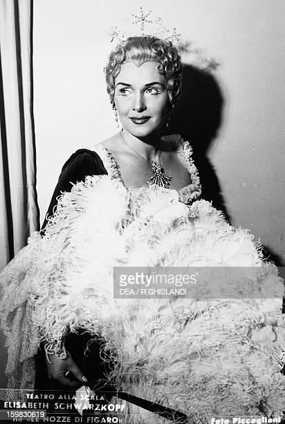 Elisabeth Schwarzkopf German soprano as Rosina in The Marriage of Figaro by Wolfgang Amadeus Mozart staged at La Scala Theatre in Milan 1949 Milan...
