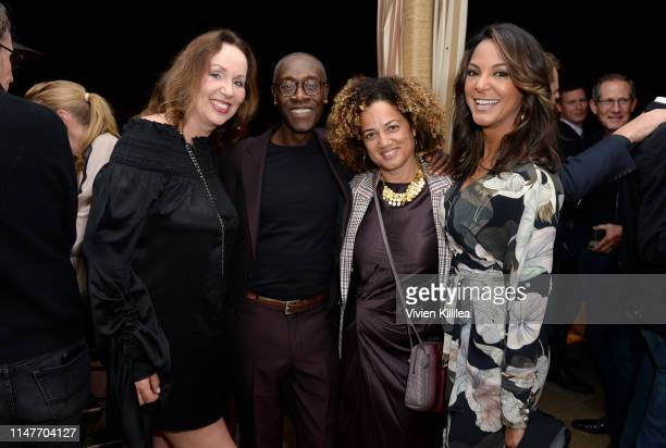 Elisabeth Sereda Don Cheadle Bridgid Coulter and Eva LaRue attend the premiere of Hulu's Catch22 on May 07 2019 in Hollywood California
