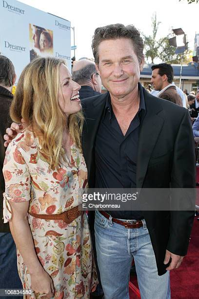 Elisabeth Shue and Kurt Russell during DreamWorks Pictures' Dreamer Inspired by a True Story Los Angeles Premiere Red Carpet at Mann Village Theatre...
