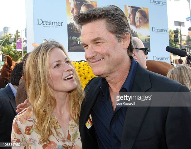Elisabeth Shue and Kurt Russell during DreamWorks Pictures' Dreamer Inspired by a True Story Los Angeles Premiere Red Carpet at Mann Village Theater...