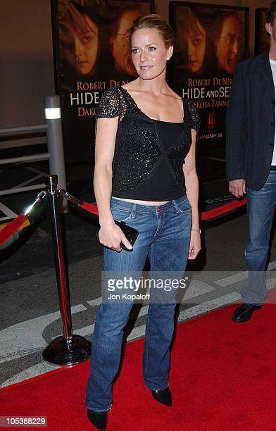 Elisabeth Shue during Hide And Seek Los Angeles Premiere Arrivals at 20th Century Fox's Zanuck Theater in Los Angeles California United States