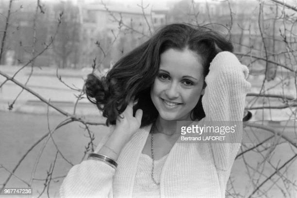 Elisabeth Tordjman speakerine sur Antenne 2 à Paris le 28 février 1980 France