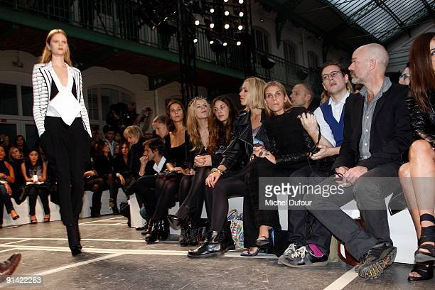 Elisabeth Turn and Taxis Gaia Repossi Eugenia Niarchos Margherita Missoni Victoria Traina and Vanessa Traina attends Givenchy Pret a Porter show as...