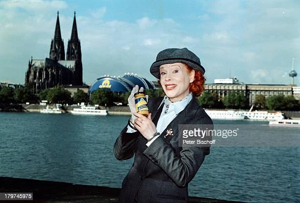 Elisabeth Volkmann Köln Anuga 97 Werbung Friedrichs Dresdner Tafelsenf Senf