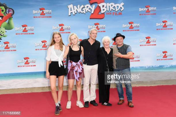 """Elisabeth von Molo , Gedeon Burkhard with his family and Axel Prahl attend the premiere of the movie """"Angry Birds 2 - Der Film"""" at CineStar on..."""