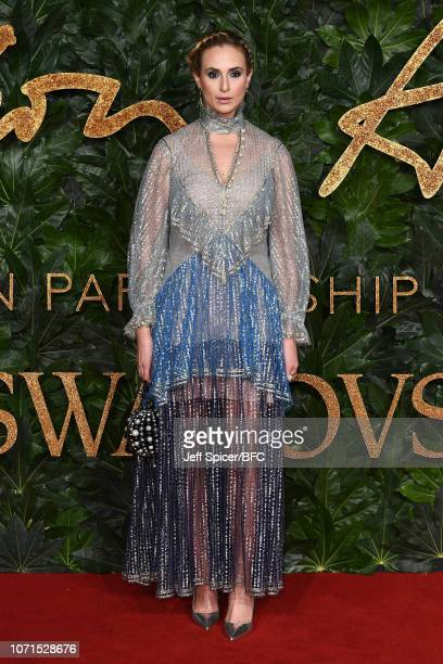 Elisabeth von Thurn und Taxi arrives at The Fashion Awards 2018 In Partnership With Swarovski at Royal Albert Hall on December 10 2018 in London...