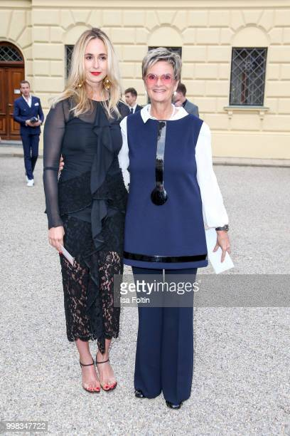 Elisabeth von Thurn und Taxis and her mother Gloria von Thurn und Taxis attend the Thurn Taxis Castle Festival 2018 'Tosca' Opera Premiere on July 13...