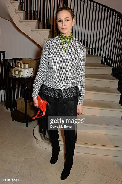 Elisabeth von Thurn und Taxis attend as mytheresacom and Burberry celebrate the new MYT Woman at Thomas's on February 21 2016 in London England