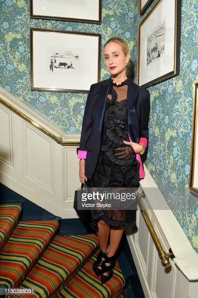 Elisabeth von Thurn und Taxis attend the Victoria Beckham x YouTube Fashion Beauty After Party at London Fashion Week hosted by Derek Blasberg and...
