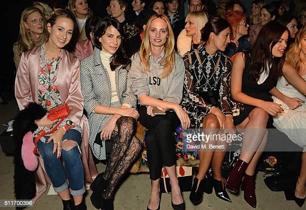 Elisabeth Von Thurn und Taxis Caroline Sieber Lauren Santo Domingo Hikari Yokoyama and Atlanta De Cadenet attend the Erdem show during London Fashion...