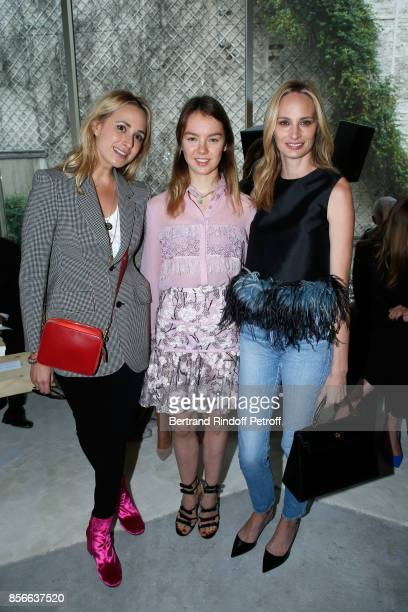 Elisabeth von Thurn und Taxis Princess Alexandra of Hannover and Lauren Santo Domingo attend the Giambattista Valli show as part of the Paris Fashion...