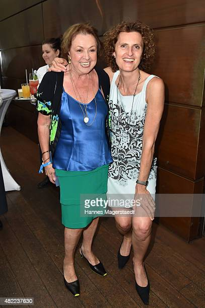 Elisabeth WickiEndriss and Innegrit Volkhardt attend the summer party at Hotel Bayerischer Hof on July 28 2015 in Munich Germany