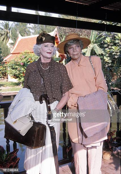 Elisabeth Wiedemann Tilly Lauenstein PRO 7 Serie Glueckliche Reise Folge 7 Thailand Bangkok/Thailand/Asien Fluss Steg Hut Tasche Handschuhe...
