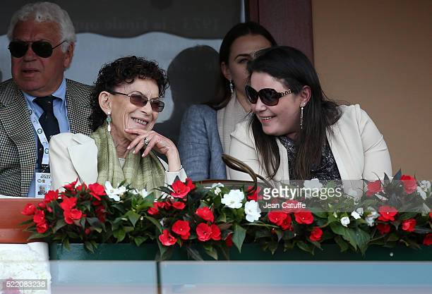 Elisabeth-Anne de Massy and his daughter Melanie Antoinette de Massy attend the final of the 2016 Monte-Carlo Rolex Masters at Monte-Carlo Country...