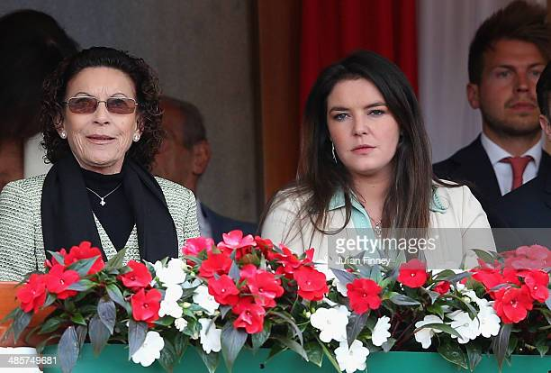 ElisabethAnne de Massy and MelanieAntoinette de Massy attend the final between Roger Federer of Switzerland and Stanislas Wawrinka of Switzerland...