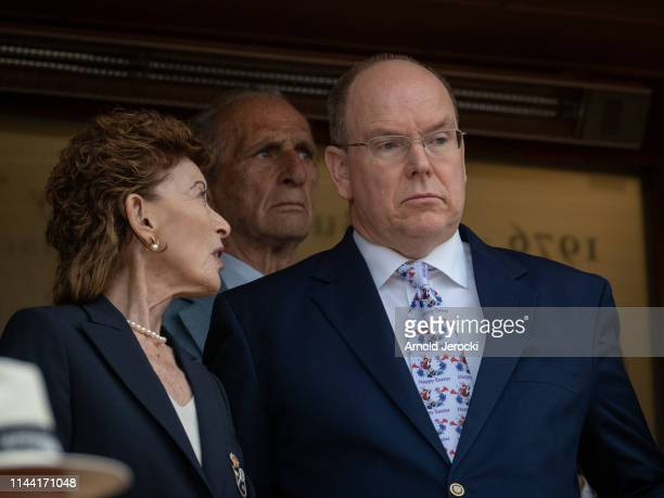 ElisabethAnne de Massy and Prince Albert II of Monaco attends the Rolex MonteCarlo Masters at MonteCarlo Country Club on April 21 2019 in MonteCarlo...