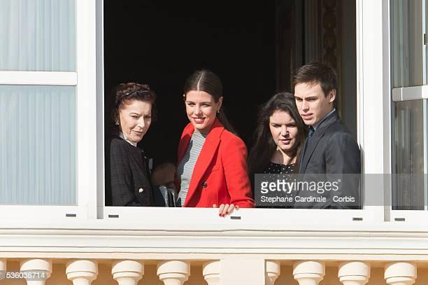 ElisabethAnne de Massy Charlotte Casiraghi MelanieAntoinette de Massy and Louis Ducruet attend the Official Presentation Of The Monaco Twins Princess...