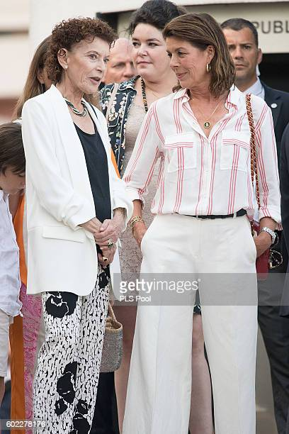 ElisabethAnne de Massy MelanieAntoinette de Massy and Princess Caroline of Hanover attend the annual traditional 'Pique Nique Monegasque'on September...
