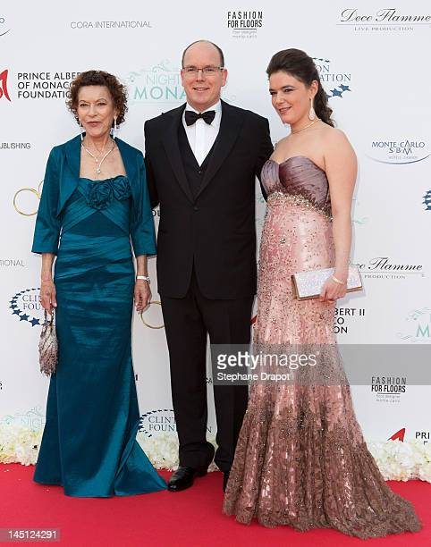 ElisabethAnne de Massy Prince Albert II of Monaco and MelanieAntoinette Costello de Massy attends the 'Nights in Monaco' Gala Fundraiser equally...