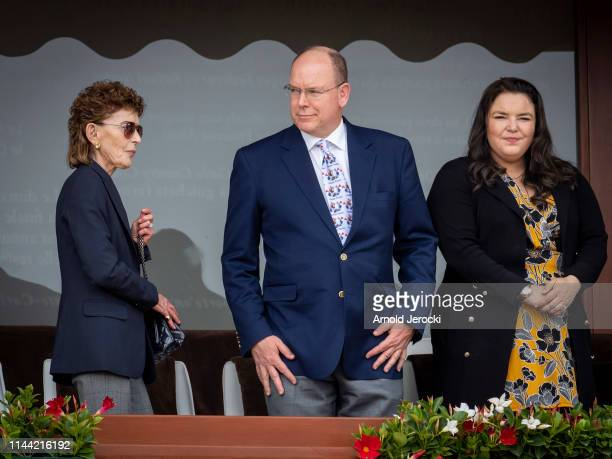 ElisabethAnne de Massy Prince Albert II of Monaco and Melanie de Massy attends the Rolex MonteCarlo Masters at MonteCarlo Country Club on April 21...
