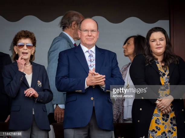 ElisabethAnne de Massy Prince Albert II of Monaco and Melanie de Massy attend the Rolex MonteCarlo Masters at MonteCarlo Country Club on April 21...
