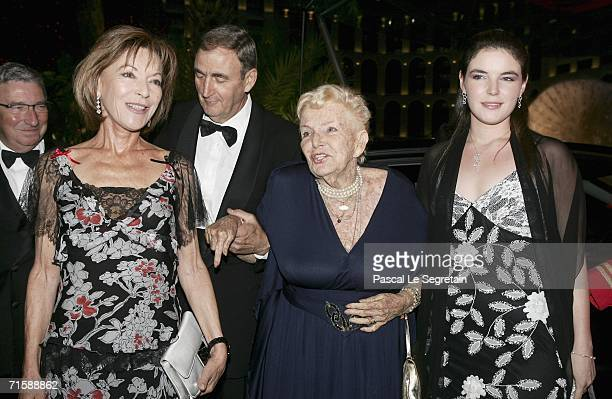 ElisabethAnne de Massy unidentified guestprincess Antoinette Baroness of Massy and Melamie de Massy arrive at the Monaco Red Cross Ball under the...