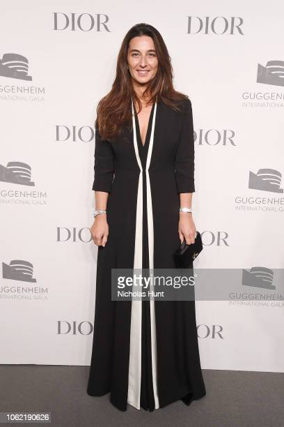 Elisabetta Beccari attends the Guggenheim International Gala Dinner made possible by Dior at Solomon R Guggenheim Museum on November 15 2018 in New...