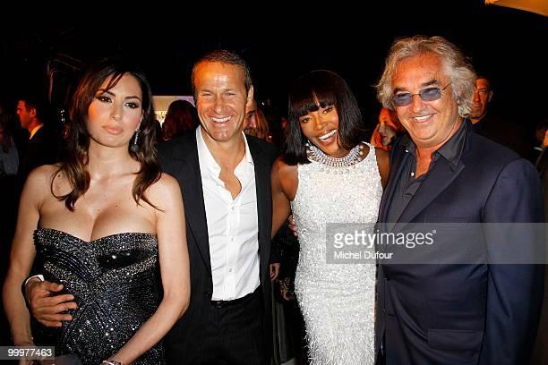 Elisabetta Briatore Vladislav Doronin Naomi Campbell and Flavio Briatore attend the de Grisogono 'Crazy Chic Evening' cocktail party at the Hotel Du...