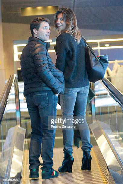 Elisabetta Canalis and Brian Perri are sighted on December 22 2014 in Milan Italy