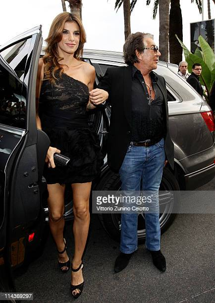 Elisabetta Canalis and Roberto Cavalli attend the Cavalli Boutique Opening during the 64th Annual Cannes Film Festival on May 18 2011 in Cannes France