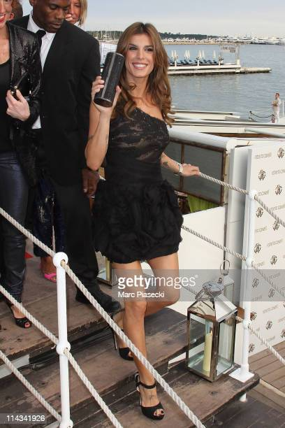 Elisabetta Canalis arrives on the 'Miramar' beach to attend the 'Cavalli' party photocall during the 64th Annual Cannes Film Festival on May 18 2011...