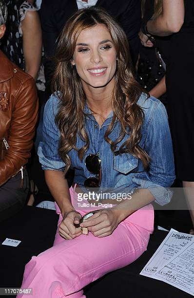 Elisabetta Canalis attends DSquared2 fashion show on June 21, 2011 in Milan, Italy.