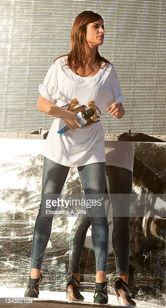 Elisabetta Canalis attends MTV's 'TRL Total Request Live' at Eur on November 17 2009 in Rome Italy