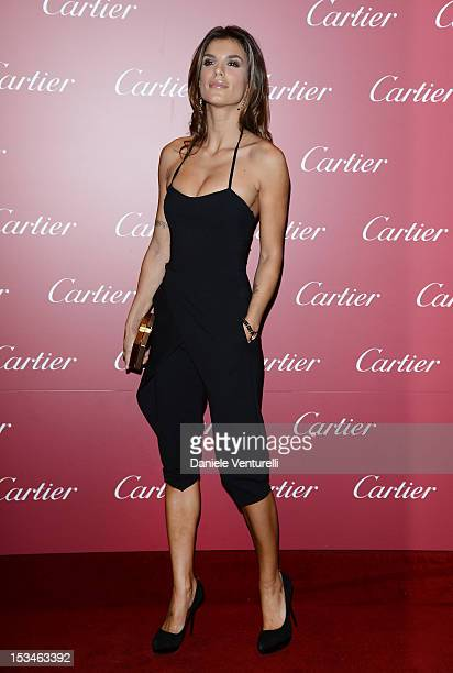 Elisabetta Canalis attends the Cartier Boutique reopening cocktail party on October 5 2012 in Milan Italy
