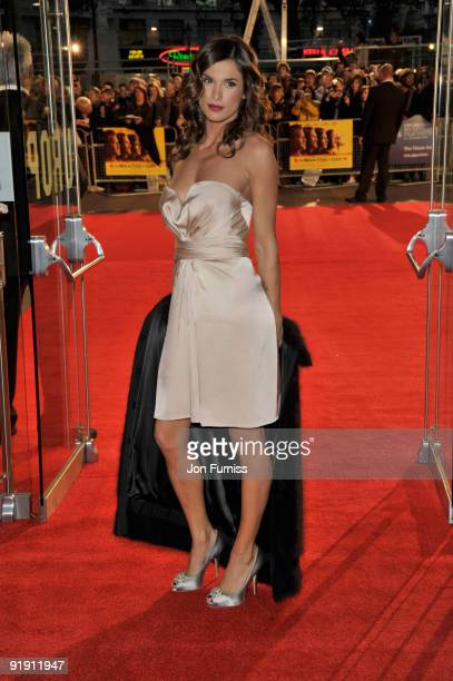 Elisabetta Canalis attends the Gala Screening of 'Men Who Stare At Goats' during The Times BFI London Film Festival at Odeon Leicester Square on...