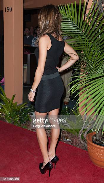 Elisabetta Canalis attends The Grand Opening of Vic Angelo's South Beach with Elisabetta Canalis on November 4 2011 in Miami Beach Florida