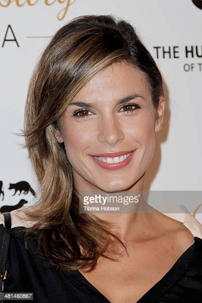 Elisabetta Canalis attends the Humane Society's 60th anniversary benefit gala at the Beverly Hilton Hotel on March 29 2014 in Beverly Hills California