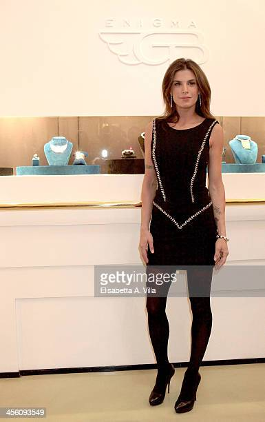 Elisabetta Canalis attends the 'Luce Preziosa' presentation at the GB ENIGMA by Gianni Bulgari boutique on December 13 2013 in Rome Italy Luce...