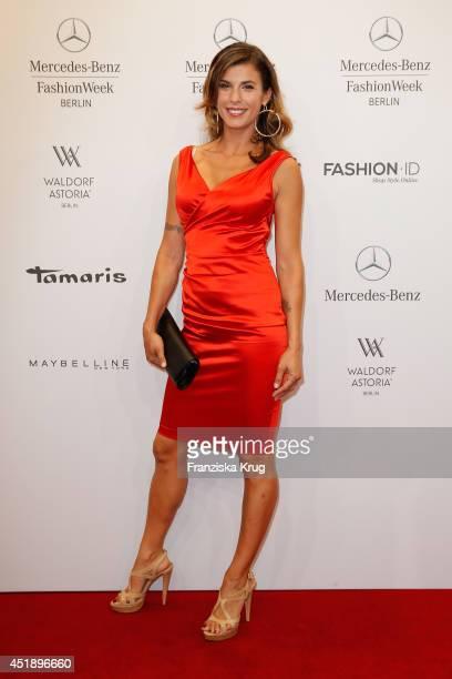 Elisabetta Canalis attends the Minx by Eva Lutz show during the MercedesBenz Fashion Week Spring/Summer 2015 at Erika Hess Eisstadion on July 9 2014...