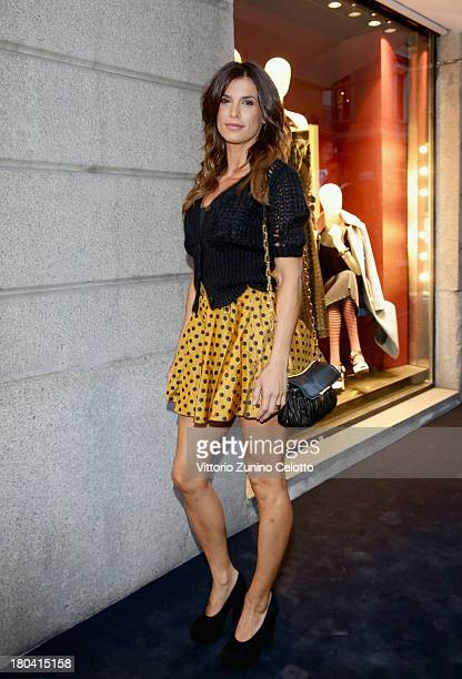 Elisabetta Canalis attends the Miu Miu reopening cocktail on September 12 2013 in Milan Italy