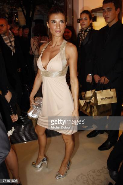 Elisabetta Canalis attends the Roberto Cavalli flagship store opening during the Spring/Summer 2008 readytowear collection show at avenue Montaigne...