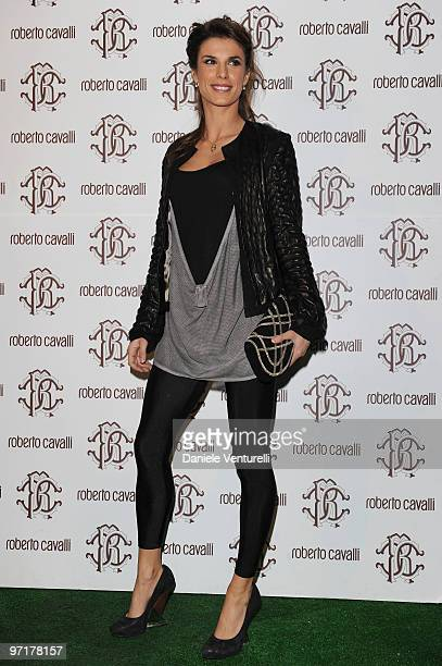 Elisabetta Canalis attends the Roberto Cavalli party during the Milan Fashion Week Autumn/Winter 2010 on February 28 2010 in Milan Italy