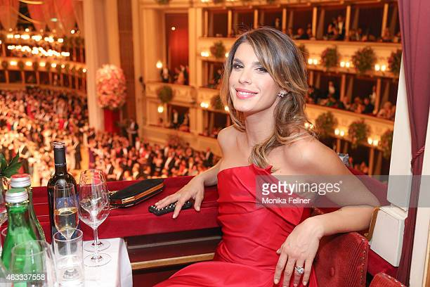 Elisabetta Canalis attends the traditional Opera Ball Vienna at State Opera Vienna on February 12 2015 in Vienna Austria