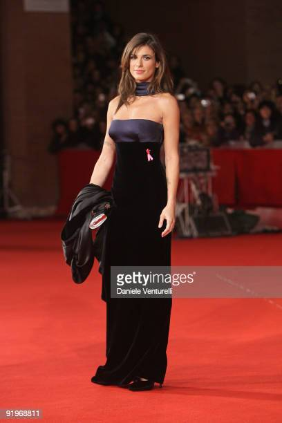 Elisabetta Canalis attends the 'Up In The Air' Premiere during Day 3 of the 4th International Rome Film Festival held at the Auditorium Parco della...